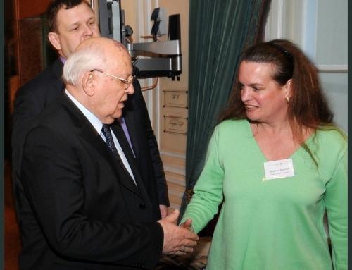 Mikhail Gorbachev mit Dr.rer.pol.Beatrice Bischof